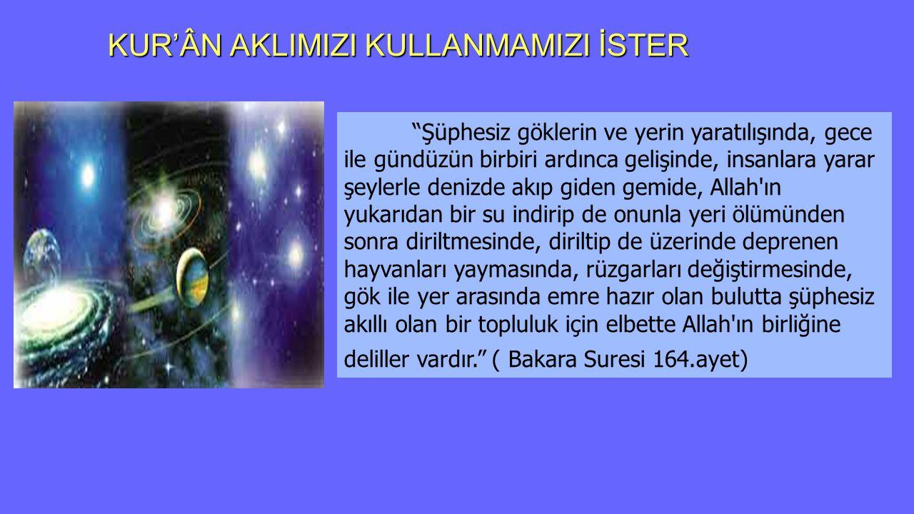 Kur'an'da Bilgi edinme Yolları Göğe bakmıyorlar mı, nasıl yükseltilmiştir.