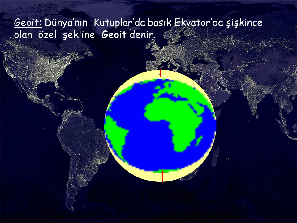 Ekvator'dan şişkinlik ve Kutuplar'dan basıklık ne demek?
