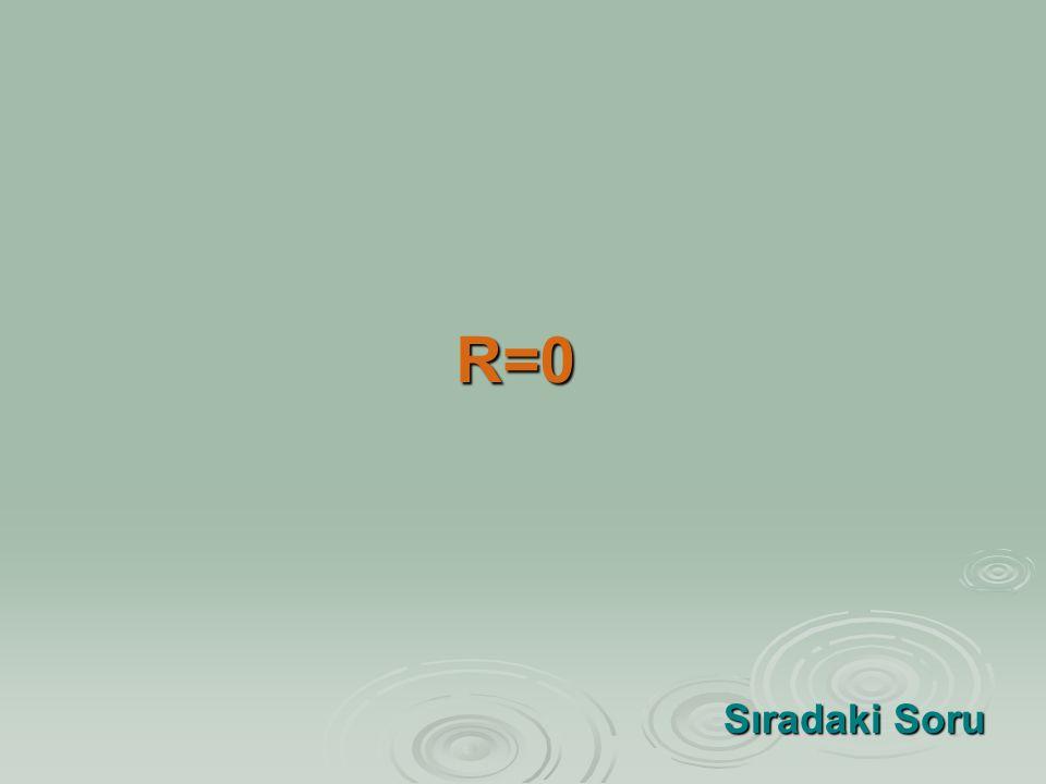 R=0 Sıradaki Soru Sıradaki Soru