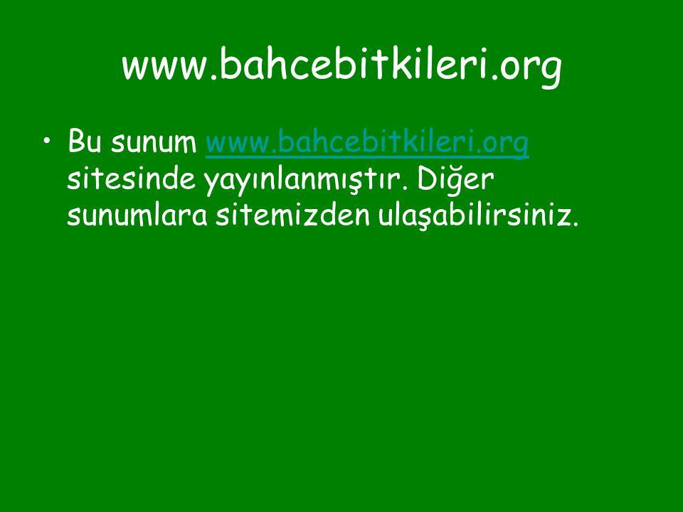 www.bahcebitkileri.org •Bu sunum www.bahcebitkileri.org sitesinde yayınlanmıştır. Diğer sunumlara sitemizden ulaşabilirsiniz.www.bahcebitkileri.org