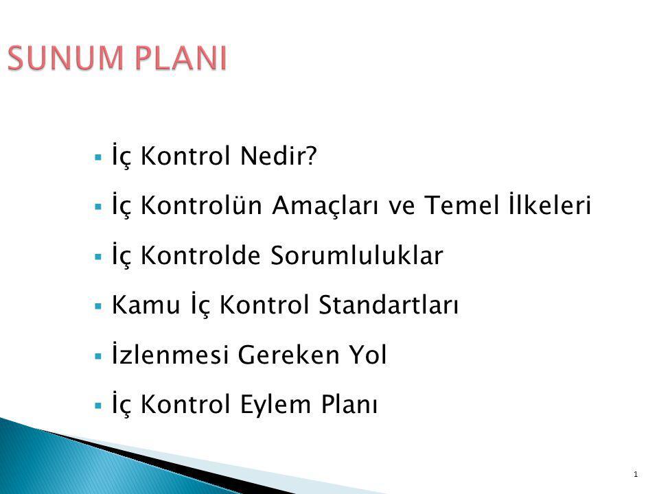 12 Kamu İç Kontrol Standartları  İç Kontrol ve Ön Malî Kontrole İlişkin Usul ve Esasların 5.