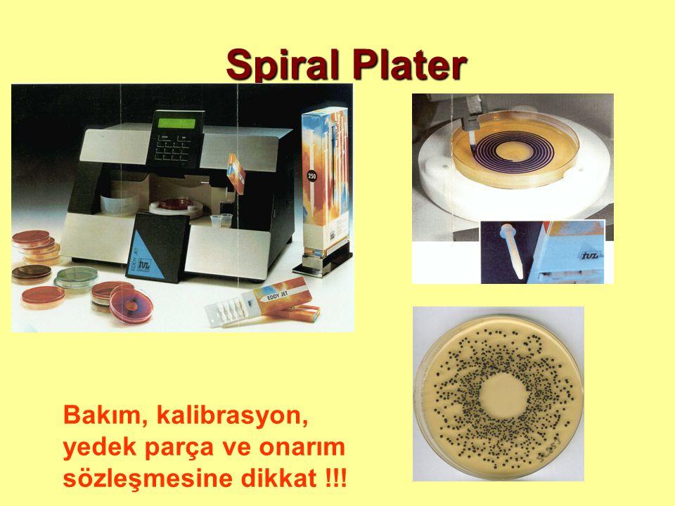 Spiral Plater Bakım, kalibrasyon, yedek parça ve onarım sözleşmesine dikkat !!!