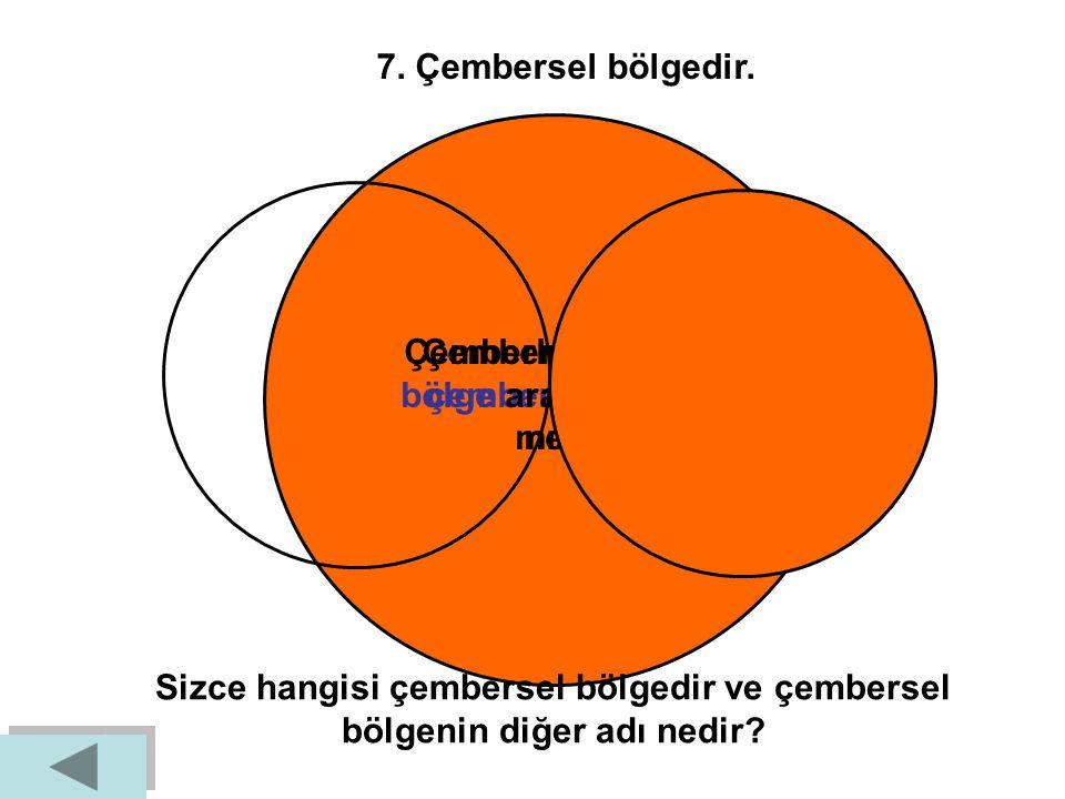 6. Merkezden eşit uzaklıktaki noktalardan oluşan geometrik şekildir. M Z çember