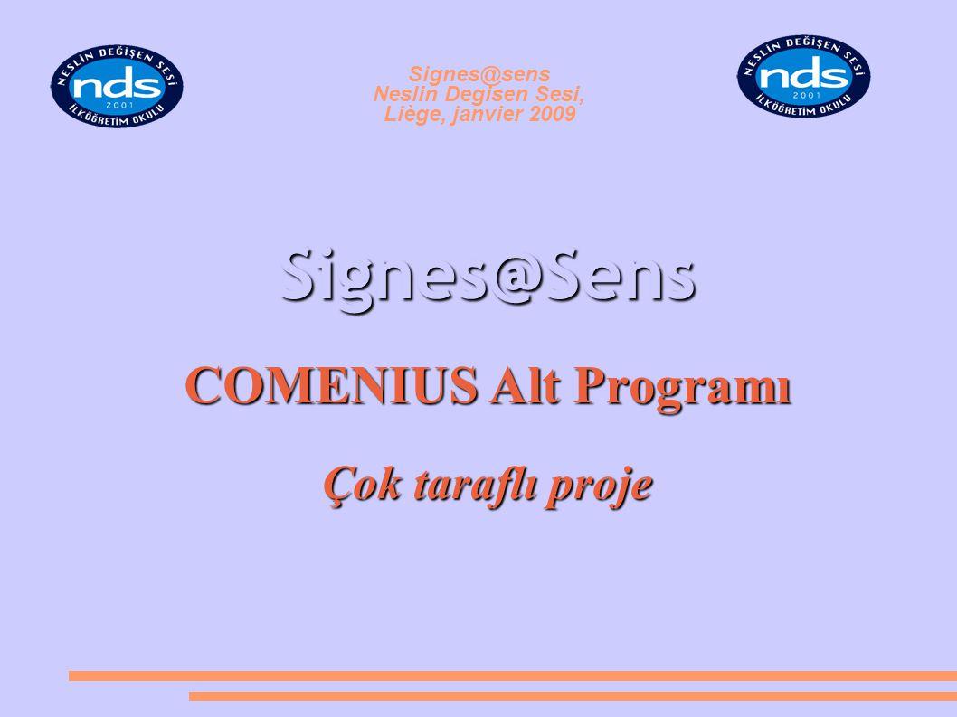 Signes@sens Neslin Degisen Sesi, Liège, janvier 2009 Signes@Sens COMENIUS Alt Programı Çok taraflı proje