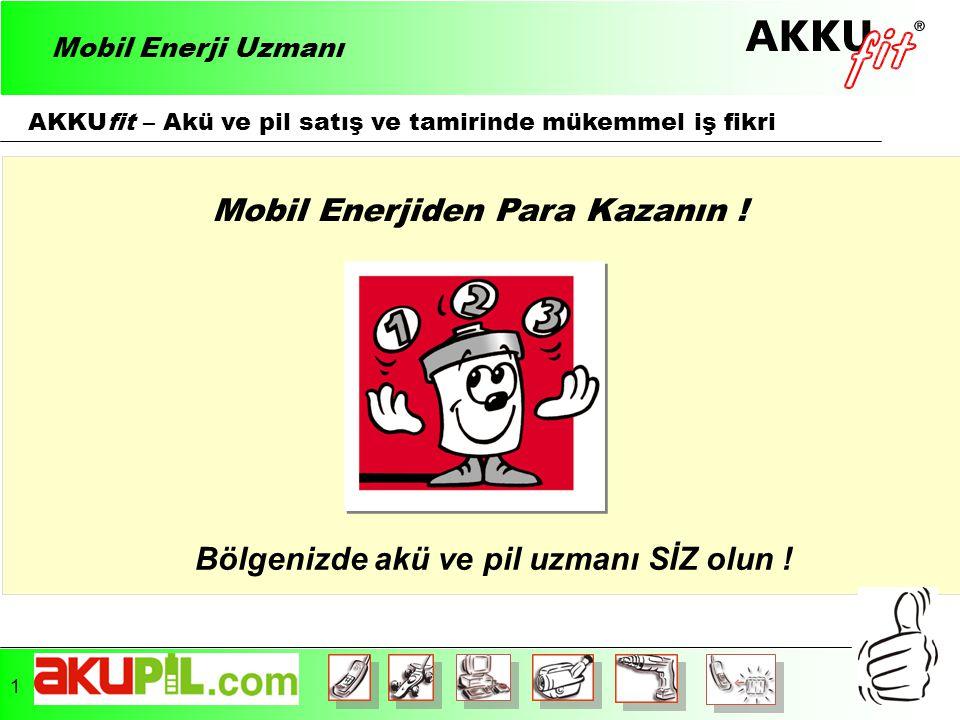 AKKUfit – Akü ve pil satış ve tamirinde mükemmel iş fikri Mobil Enerjiden Para Kazanın .