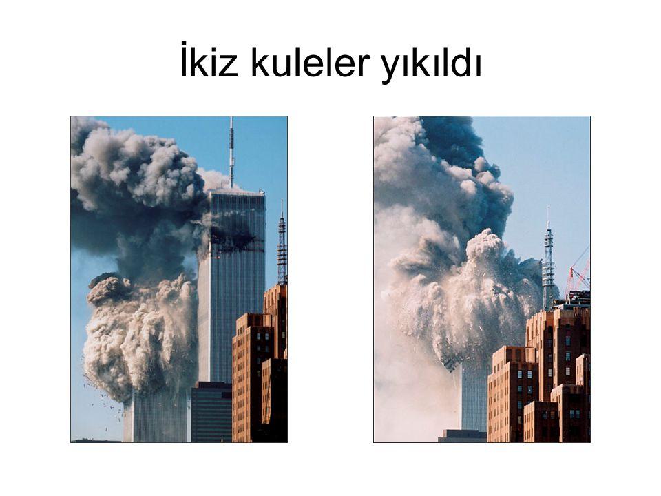 İkiz kuleler yıkıldı
