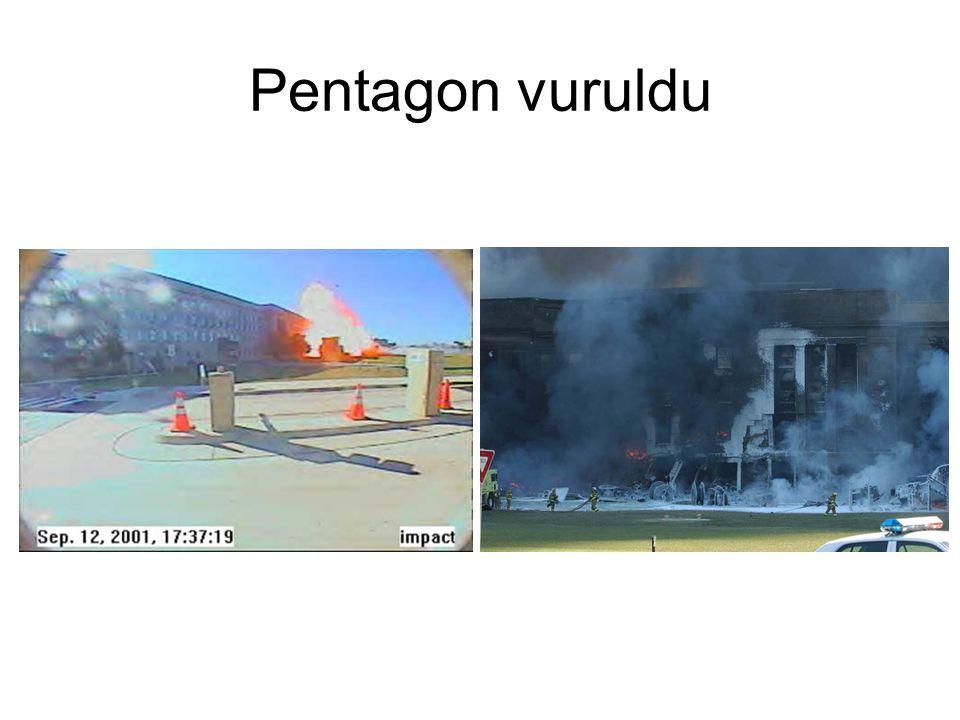 Pentagon : Uçağın geliş yönü •Uçağın geliş açısı 52°: 60ft*sin52°=47ft •Boeing 737-400'ün kanat genişliği : 95ft=2*47,5ft=29m