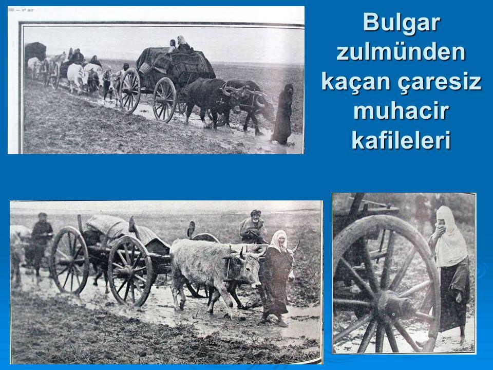 Bulgar zulmünden kaçan çaresiz muhacir kafileleri