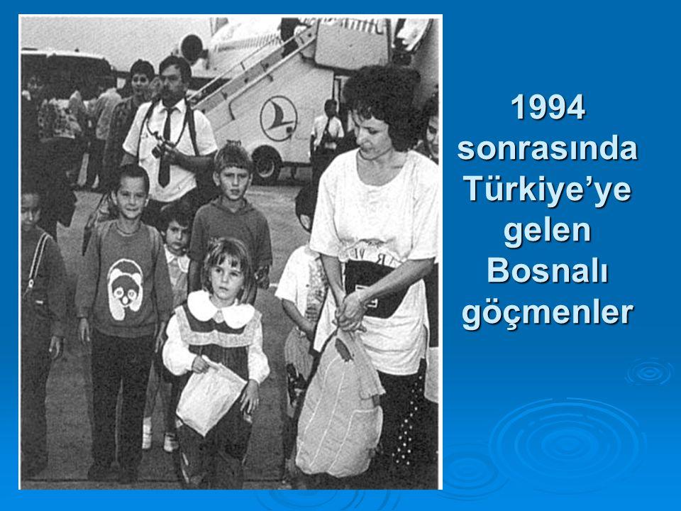 1994 sonrasında Türkiye'ye gelen Bosnalı göçmenler