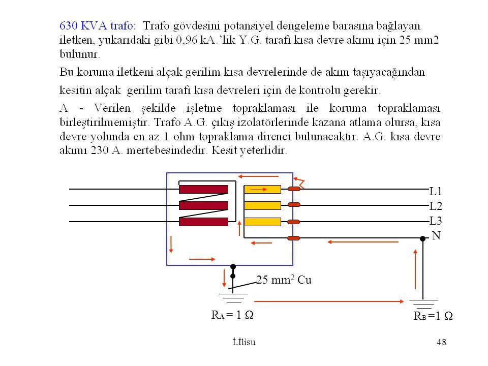 İ.İlisu48 R A = 1  25 mm 2 Cu R B =1  L1 L2 L3 N