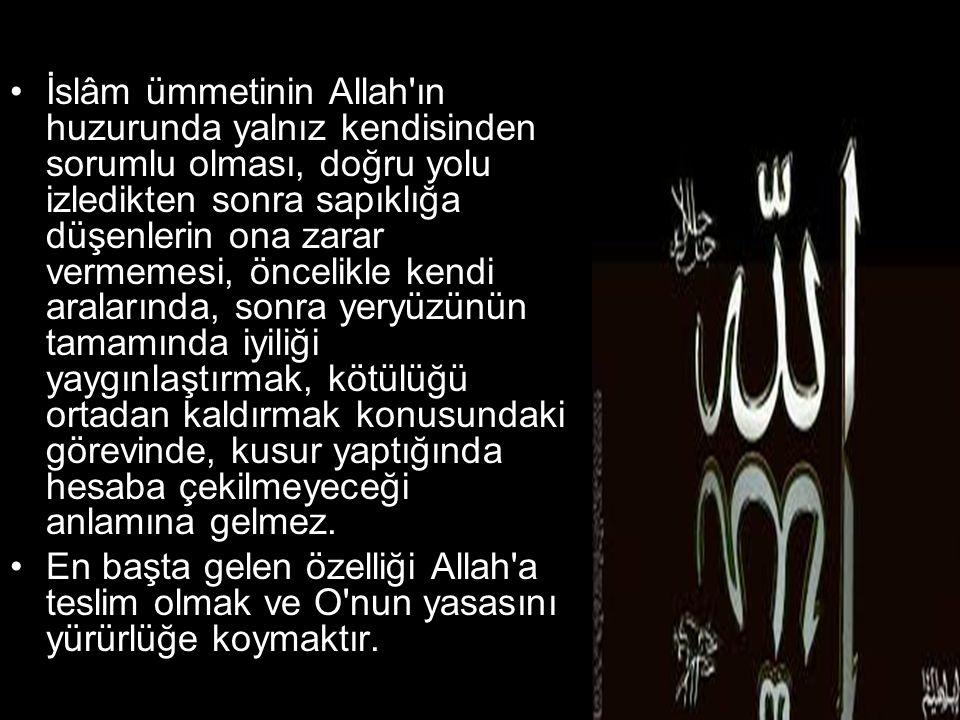 •Kötülüklerin başı ise cahiliyettir.Allah ın hakimiyeti ve yasasına karşı haddini aşmaktır.