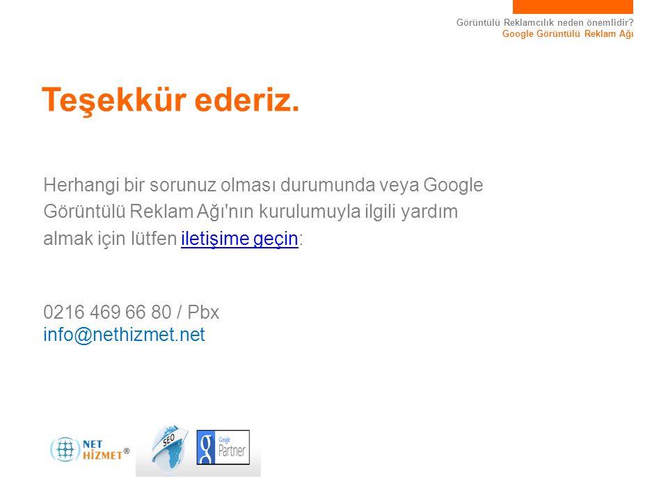 Görüntülü Reklamcılık neden önemlidir? Google Görüntülü Reklam Ağı Herhangi bir sorunuz olması durumunda veya Google Görüntülü Reklam Ağı'nın kurulumu