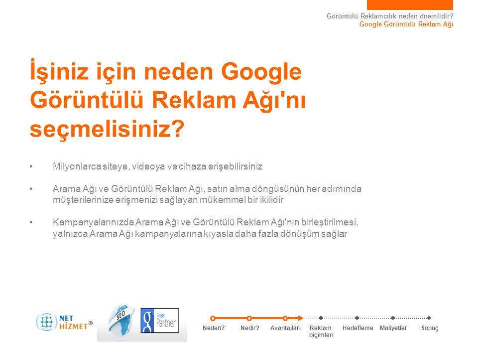 Görüntülü Reklamcılık neden önemlidir? Google Görüntülü Reklam Ağı İşiniz için neden Google Görüntülü Reklam Ağı'nı seçmelisiniz? • Milyonlarca siteye
