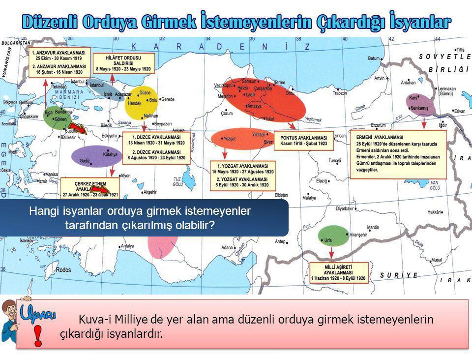 Hangi isyanlar İstanbul hükümeti ve İtilaf Devletleri kışkırtmaları ile çıkarılmış olabilir.