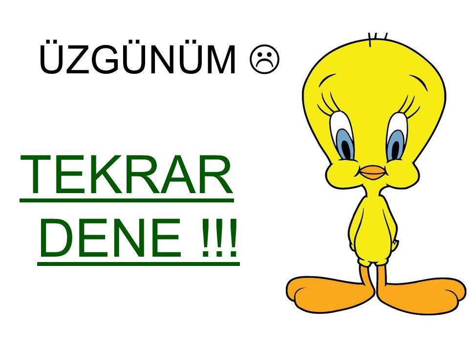 DOĞRU CEVAP  TEBRİKLER !!! İleri  İleri  Geri  Geri
