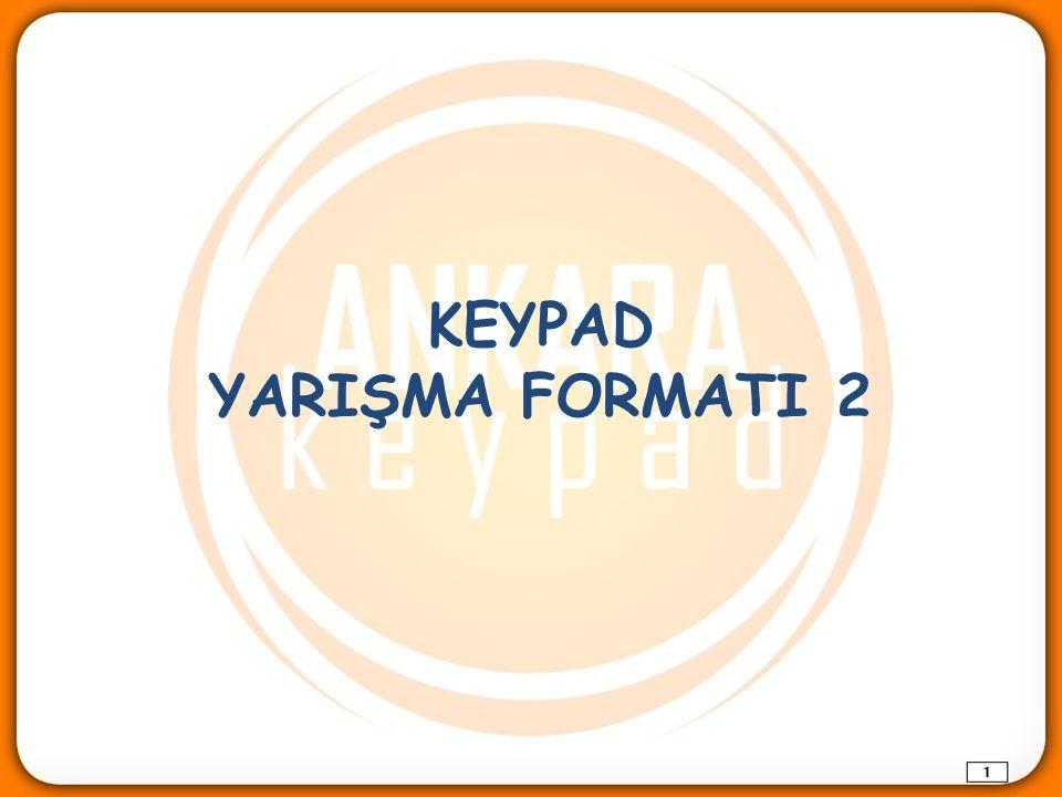 KEYPAD YARIŞMA FORMATI 2