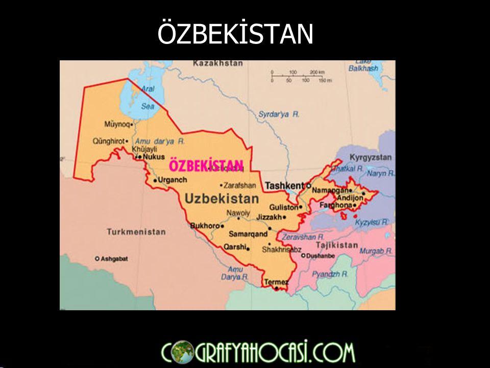 ► SINIRLARI: Kuzeyde Kazakistan, güneydoğuda Çin Halk Cumhuriyeti, güneyde Tacikistan, güneybatıda Özbekistan yer alır.