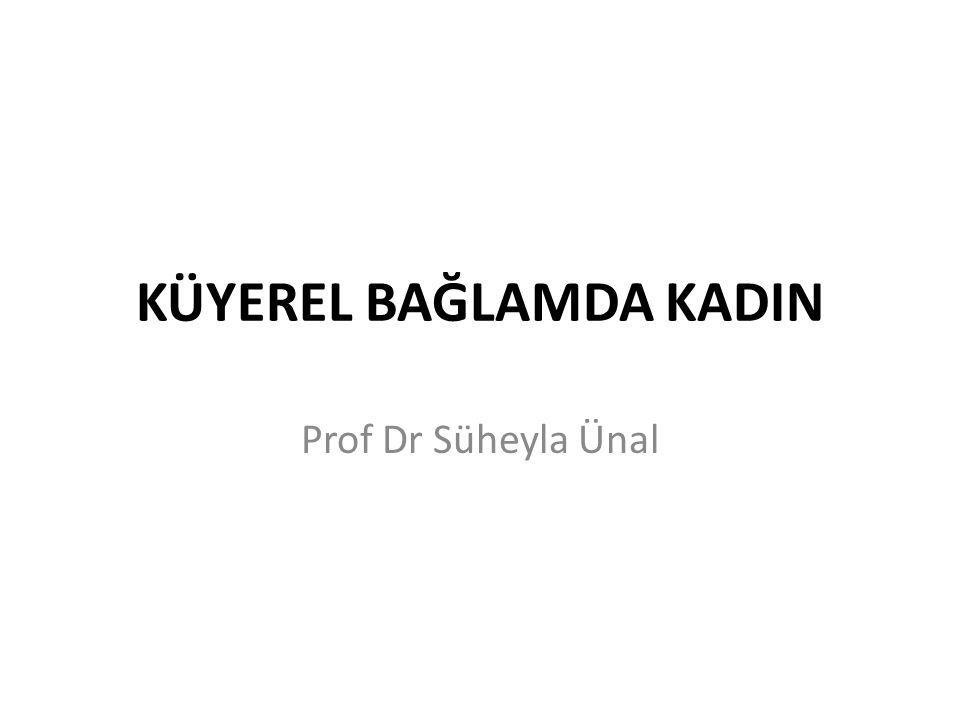 KÜYEREL BAĞLAMDA KADIN Prof Dr Süheyla Ünal