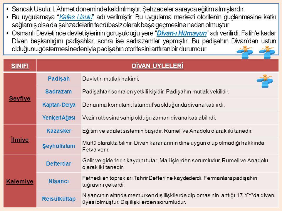 Osmanlı Devleti nde, I.