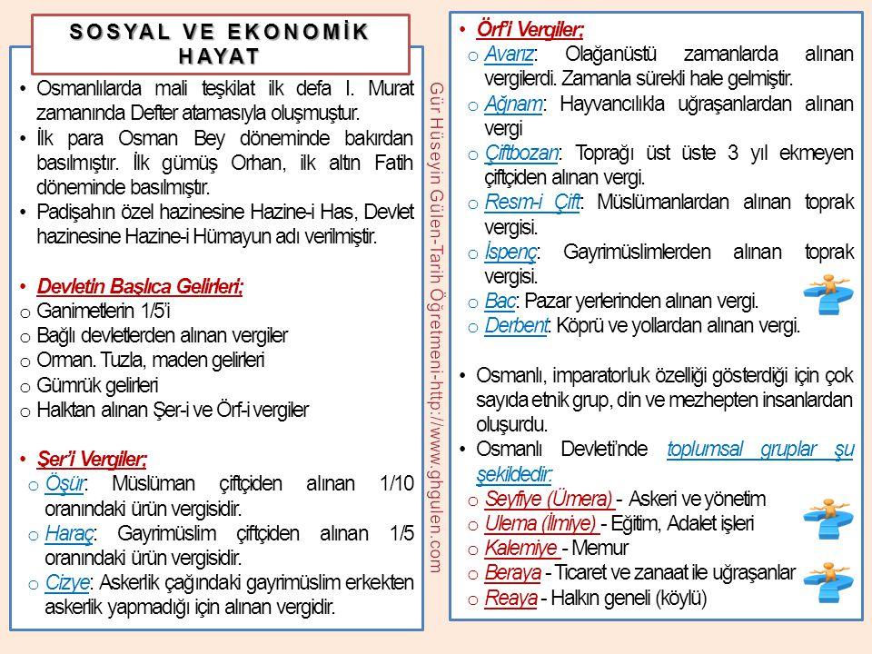 •Osmanlılarda mali teşkilat ilk defa I. Murat zamanında Defter atamasıyla oluşmuştur. •İlk para Osman Bey döneminde bakırdan basılmıştır. İlk gümüş Or
