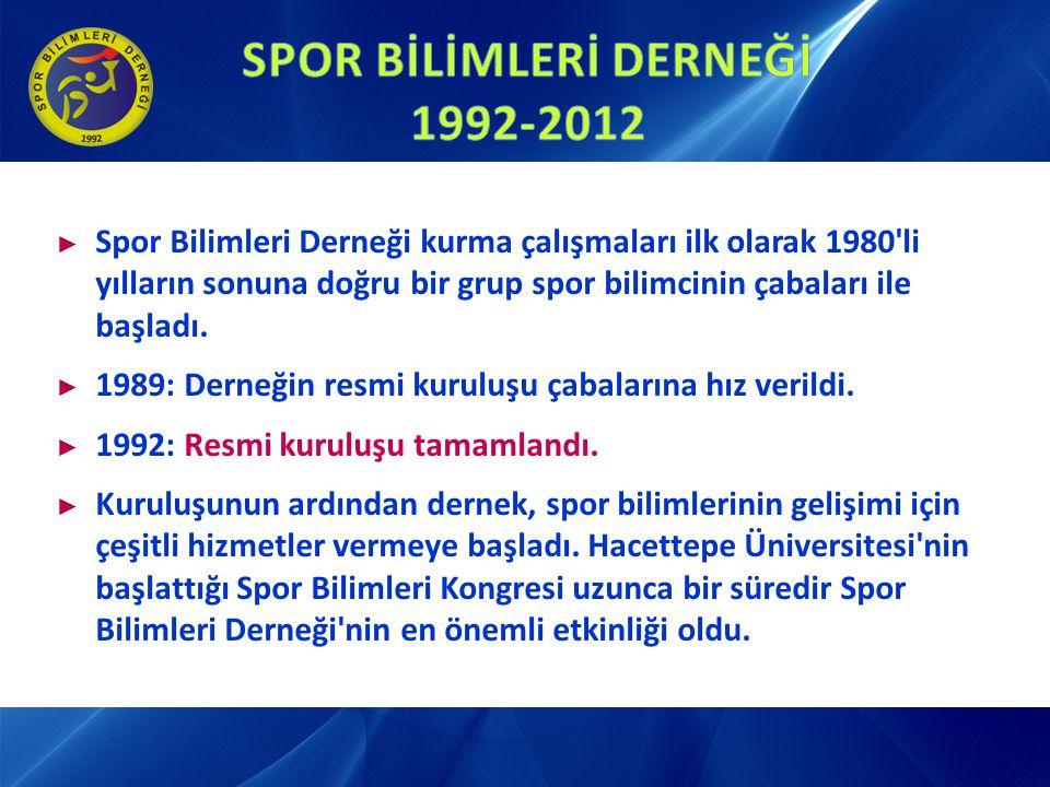 ► 5-6 Kasım 1993: Özürlülerde Spor Paneli ► 10-12 Ekim 1997: I.