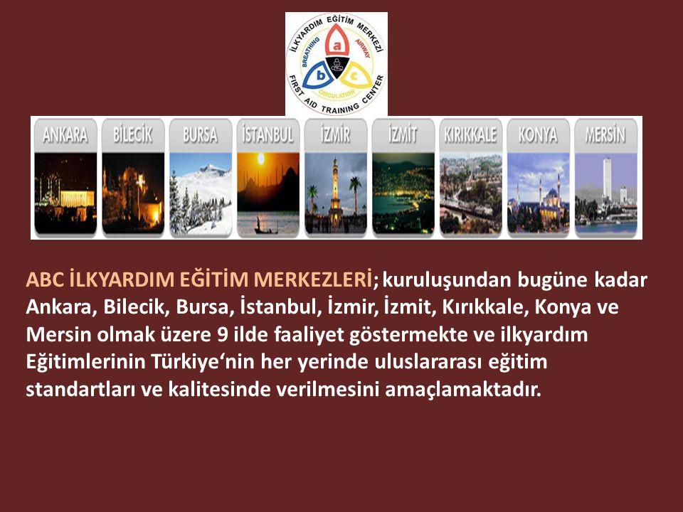 2004 yılında Tıp Doktorları tarafından kurulan abc İlkyardım Eğitim Merkezi; Türkiye'nin Sağlık Bakanlığı onaylı ilk özel İlkyardım Eğitim Merkezidir.