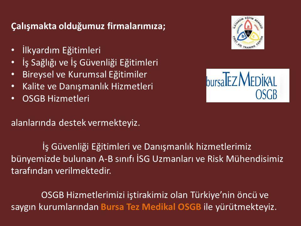 ABC İLKYARDIM EĞİTİM MERKEZLERİ; kuruluşundan bugüne kadar Ankara, Bilecik, Bursa, İstanbul, İzmir, İzmit, Kırıkkale, Konya ve Mersin olmak üzere 9 il