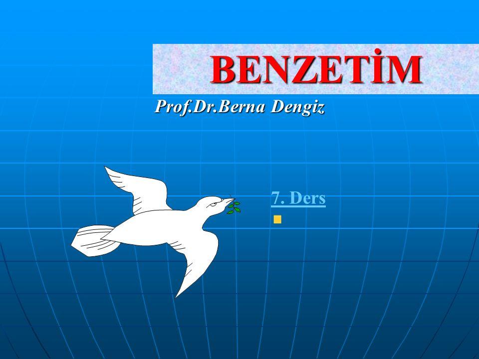 BENZETİM Prof.Dr.Berna Dengiz 7. Ders