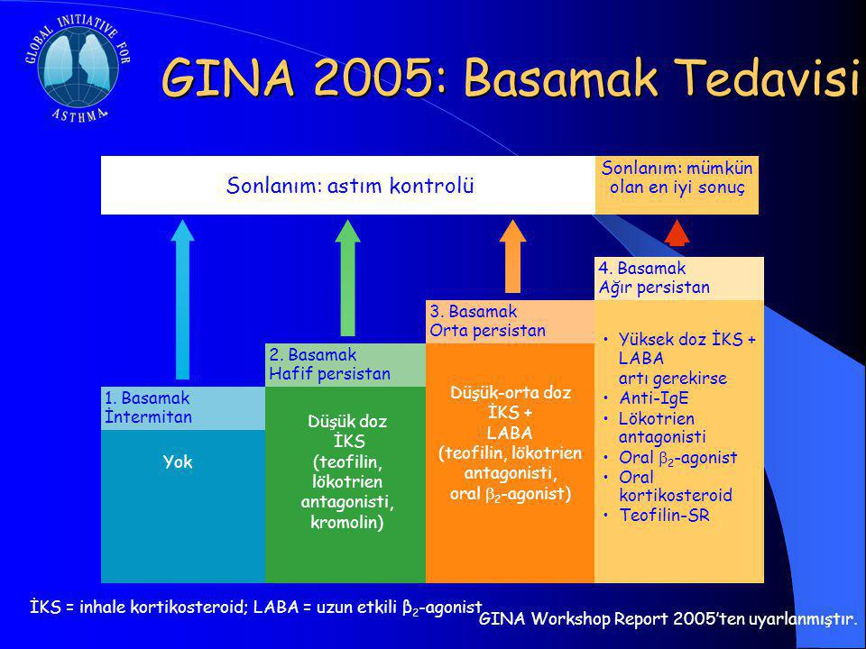 GINA 2005: Basamak Tedavisi Yok 1.