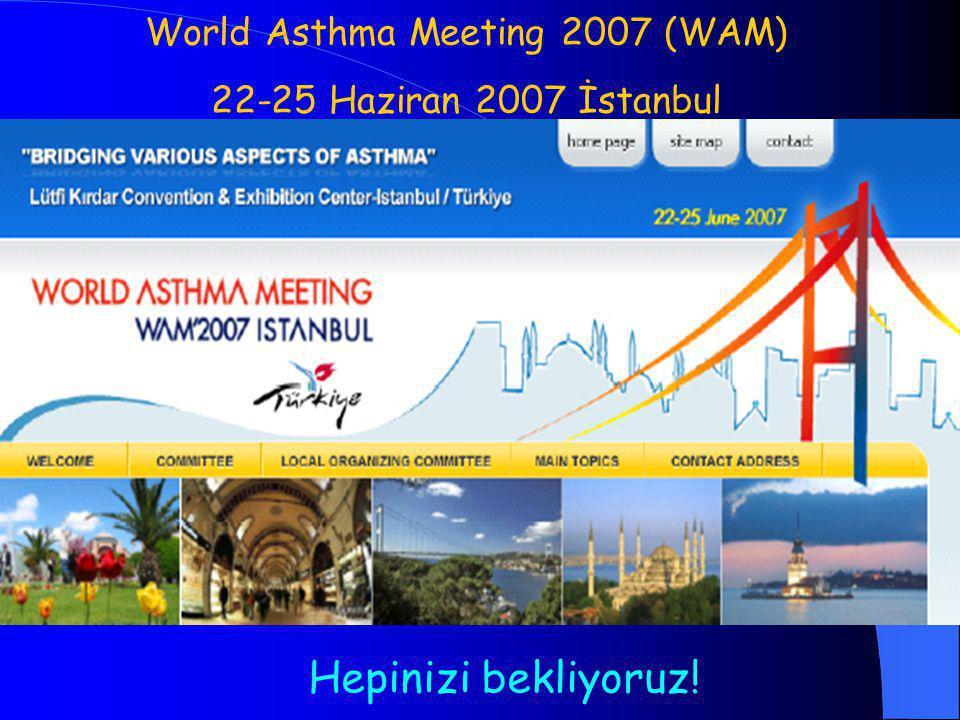Hepinizi bekliyoruz! World Asthma Meeting 2007 (WAM) 22-25 Haziran 2007 İstanbul
