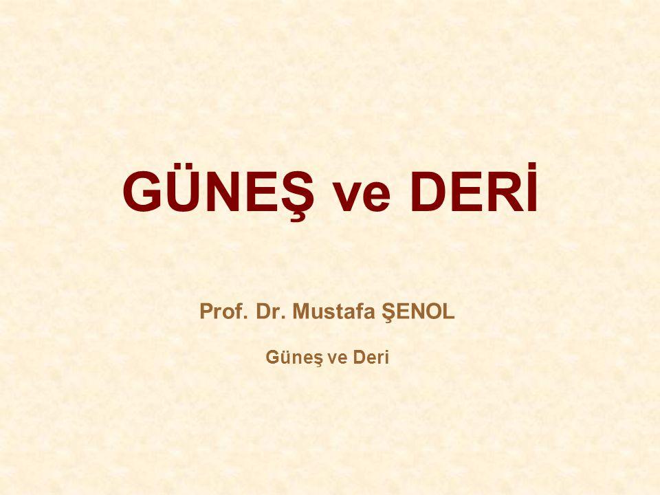 GÜNEŞ ve DERİ Prof. Dr. Mustafa ŞENOL Güneş ve Deri