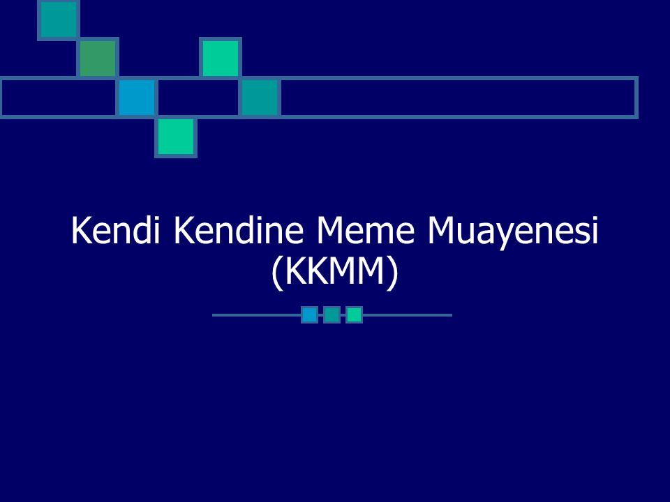 Kendi Kendine Meme Muayenesi (KKMM)