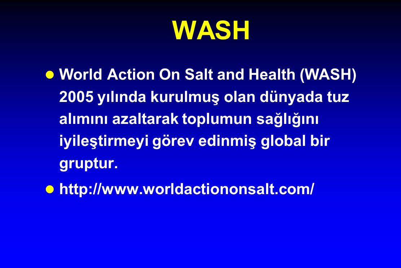 WASH l World Action On Salt and Health (WASH) 2005 yılında kurulmuş olan dünyada tuz alımını azaltarak toplumun sağlığını iyileştirmeyi görev edinmiş global bir gruptur.