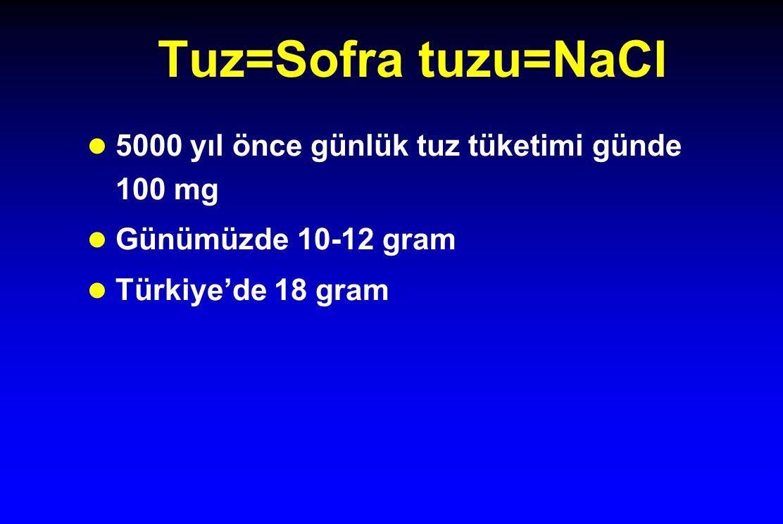Yapay/Diyet tuz l Bir kısmı azaltılmış da olsa NaCl içerir l Potasyumlu tuzlar bazı tansiyon düşürücü ilaçlarla problem yaratabilir, bazı hastalıklarda zararlı olabilir