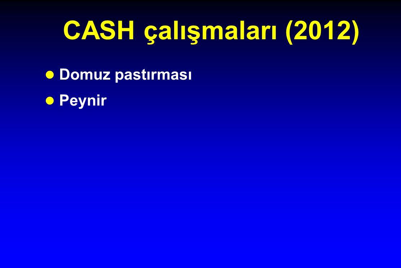 CASH çalışmaları (2012) l Domuz pastırması l Peynir