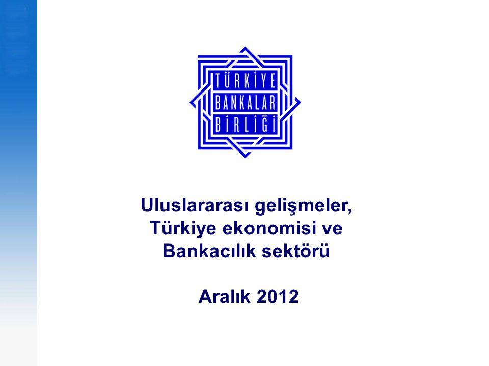Uluslararası gelişmeler, Türkiye ekonomisi ve Bankacılık sektörü Aralık 2012