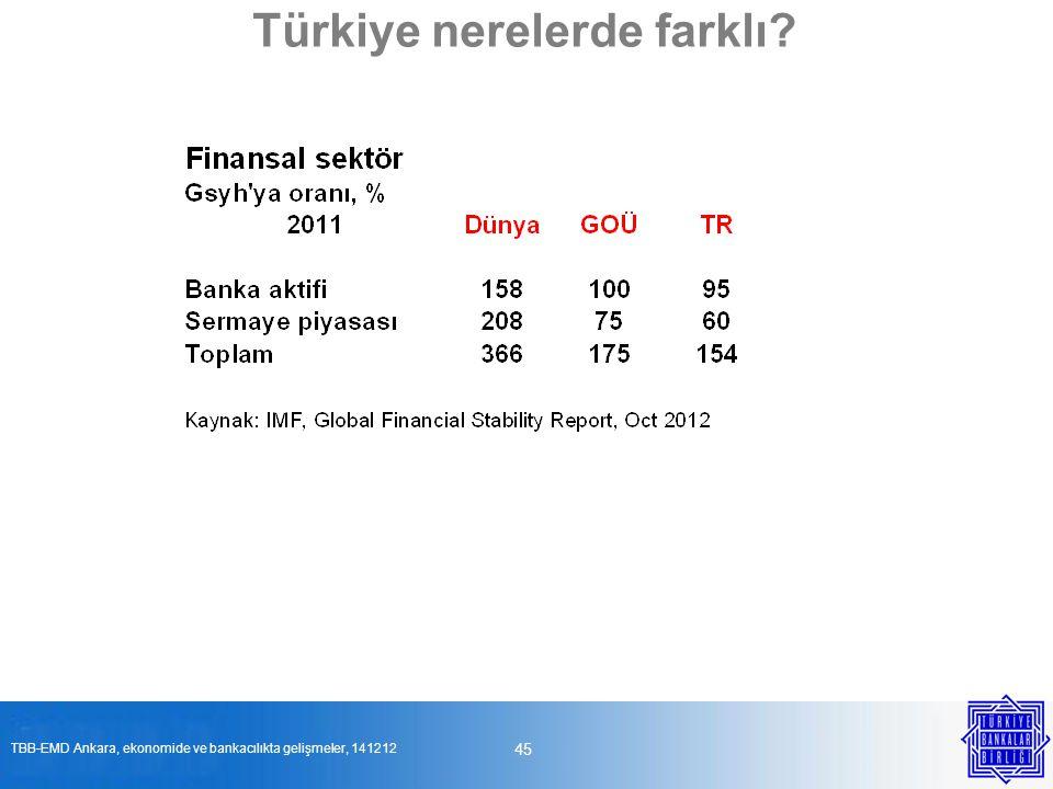 45 Türkiye nerelerde farklı? TBB-EMD Ankara, ekonomide ve bankacılıkta gelişmeler, 141212