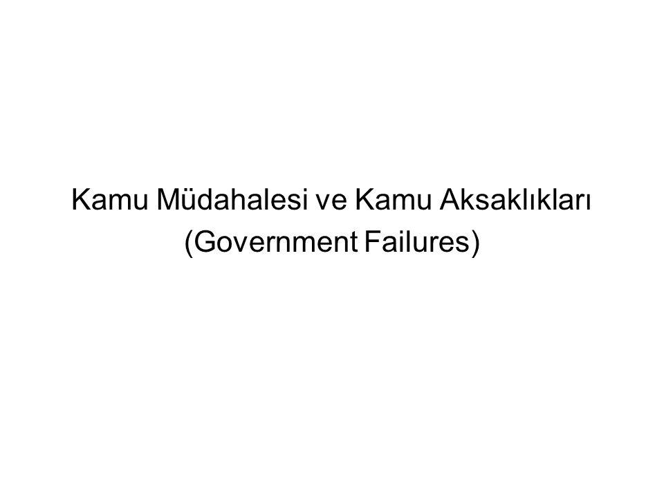 Kamu Müdahalesi ve Kamu Aksaklıkları (Government Failures)