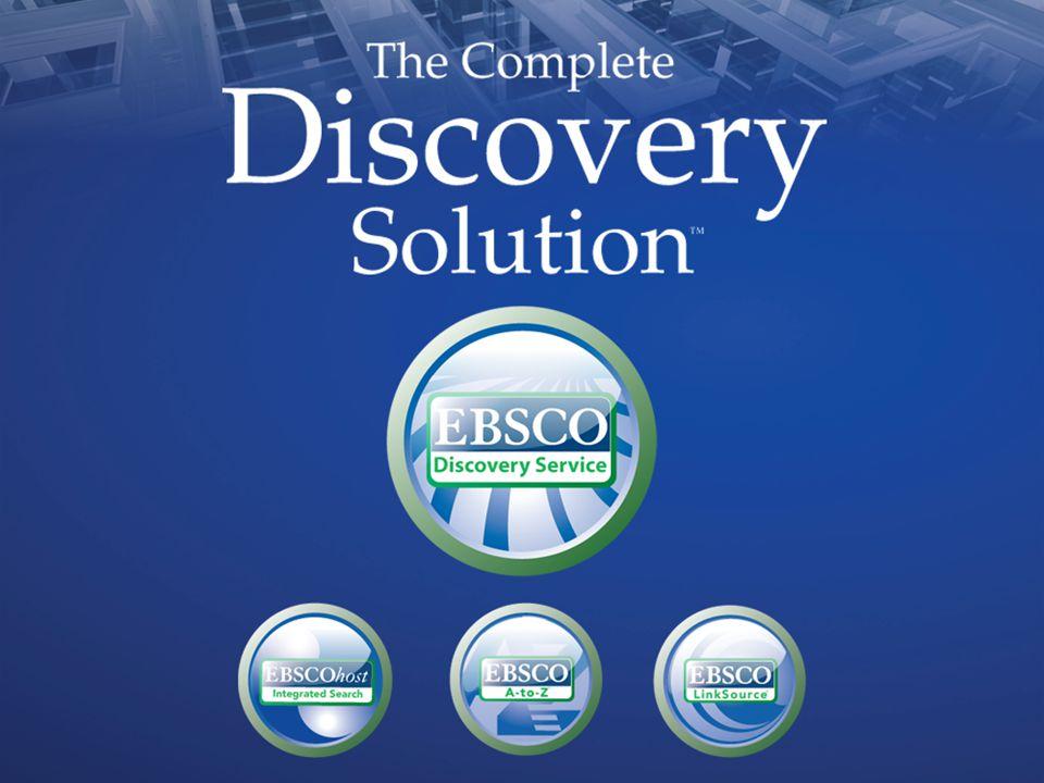 EBSCO Discovery Service (EDS) Nedir .