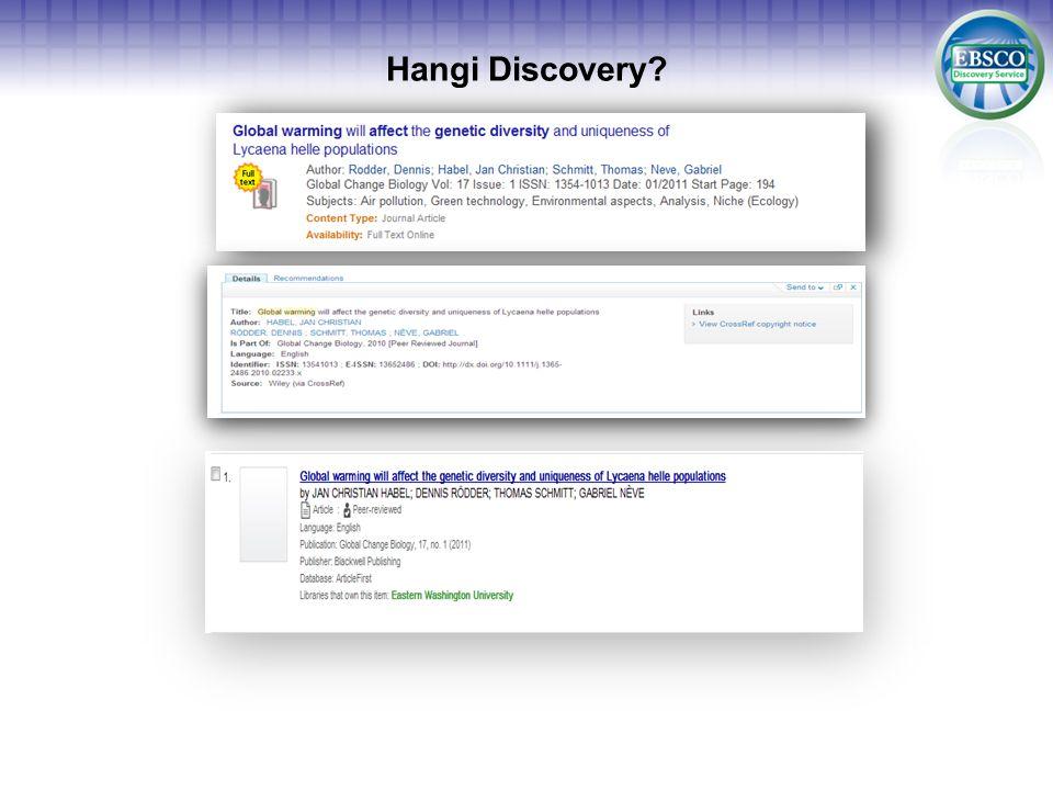 Hangi Discovery?