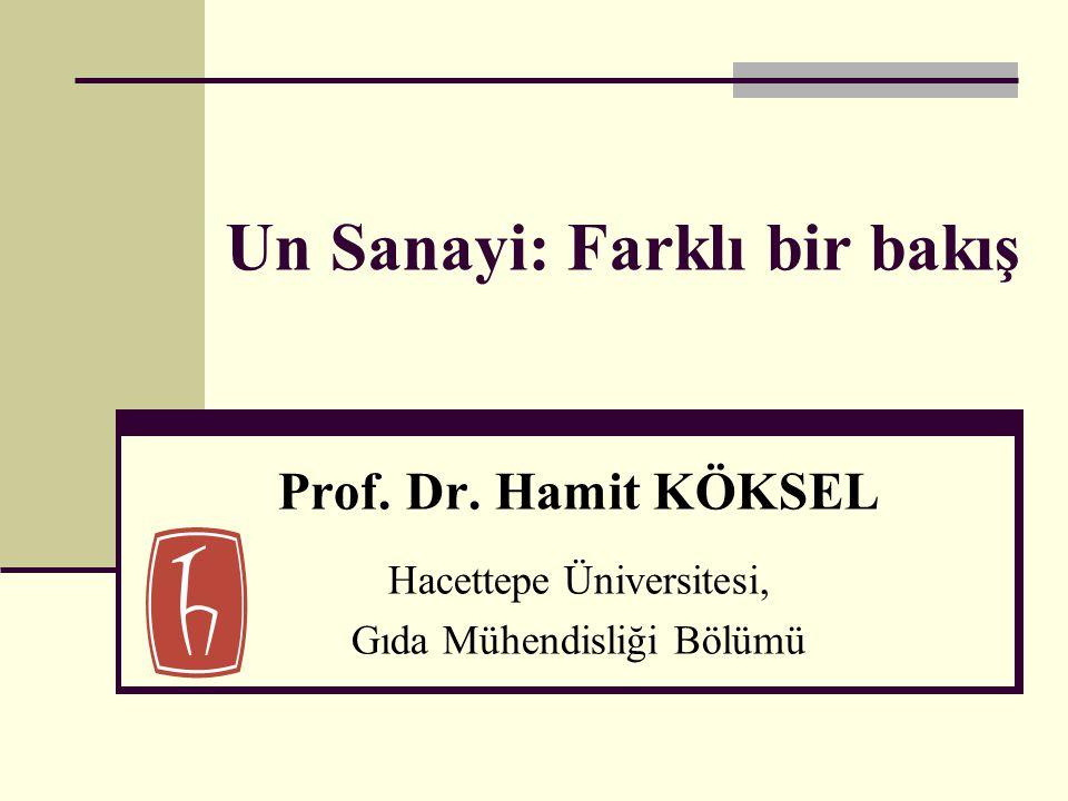 Un Sanayi: Farklı bir bakış Prof. Dr. Hamit KÖKSEL Hacettepe Üniversitesi, Gıda Mühendisliği Bölümü