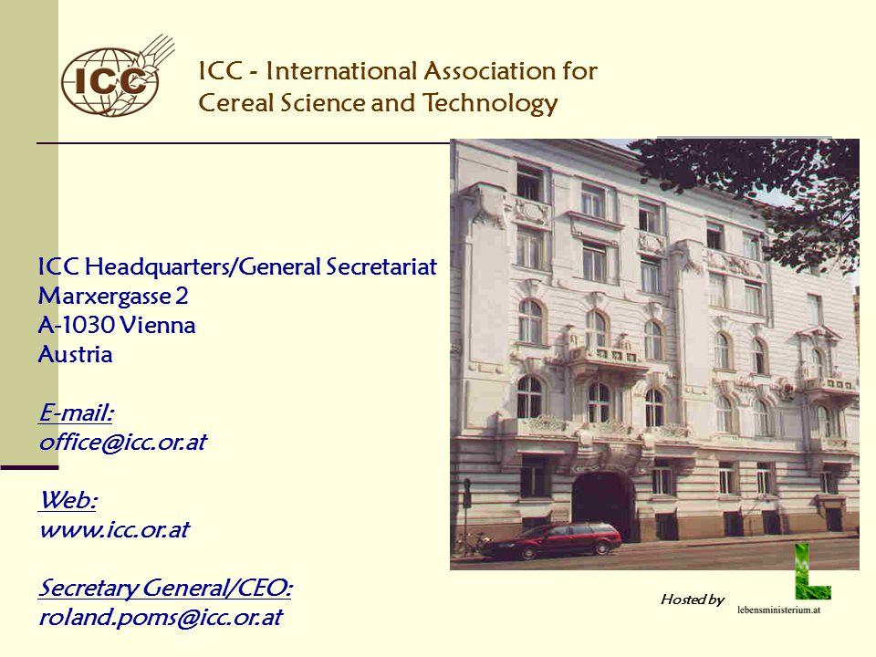 ICC Headquarters/General Secretariat Marxergasse 2 A-1030 Vienna Austria E-mail: office@icc.or.at Web: www.icc.or.at Secretary General/CEO: roland.pom