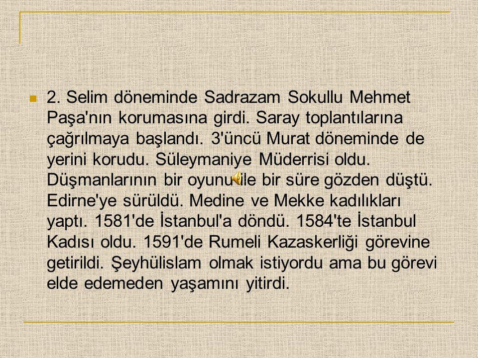  Süleymaniye Medresesi'nde Ahmet Şemseddin Efendi'nin derslerine devam etti. 1955'te Nahçıvan seferinden dönen Kanuni Sultan Süleyman'a sunduğu kasid