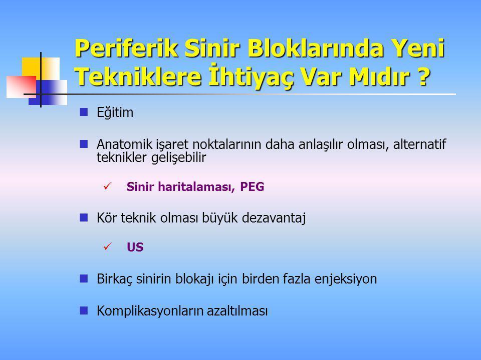 Siyatik Sinir Bloğu  A new posterior approach to the sciatic block: a prospective, randomized comparison with the classic posterior approach Di Benedetto P, Bertini L, Casati A, et al Anesth Analg 2001; 93: 1040–4