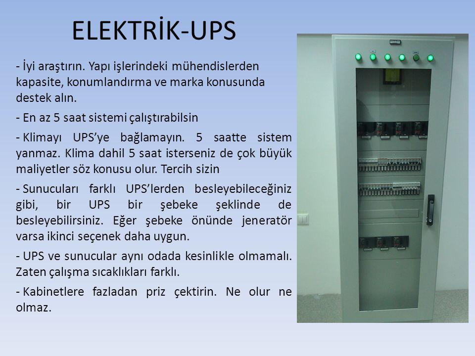 ELEKTRİK-UPS - İyi araştırın. Yapı işlerindeki mühendislerden kapasite, konumlandırma ve marka konusunda destek alın. - En az 5 saat sistemi çalıştıra