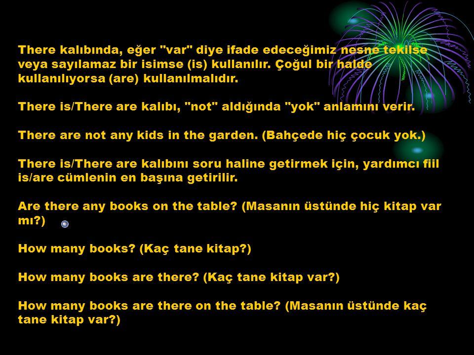 İNGİLİZCE'DE THERE IS/ARE KALIBININ KULLANIMI There is/There are kalıbı, İngilizce'de