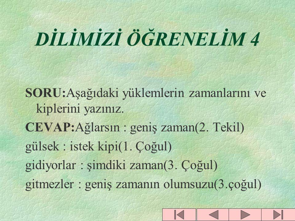 DİLİMİZİ ÖĞRENELİM 3 SORU:Dolmabahçe, ıspartalı, Erzurum kelimelerini yapı bakımından inceleyiniz. CEVAP:Dolma + bahçe (birleşik) Isparta + lı(türemiş