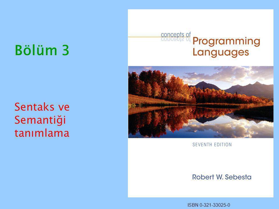 ISBN 0-321-33025-0 Bölüm 3 Sentaks ve Semantiği tanımlama