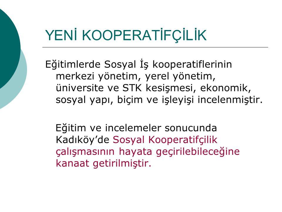 SOSYAL PROJELER (2006-2008) Kadıköy Belediyesi Meclis Üyeleri, Başkan Yardımcısı (karar vericiler), Spastik Çocuklar Vakfı Yöneticileri ve Belediyemiz