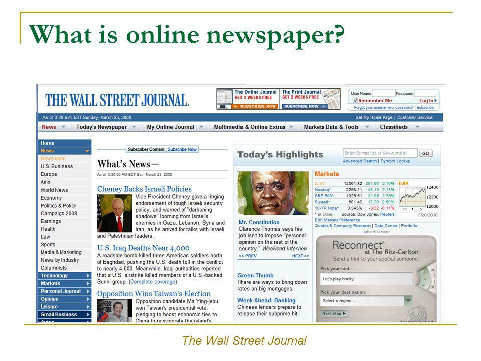 What is online newspaper? The Chronicle of Higher Education